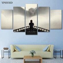 YPHYHD Современная гостиная домашний Декор 5 шт. Игра престолов картины на стену драконы плакат холст картина печати высокого разрешения рамка