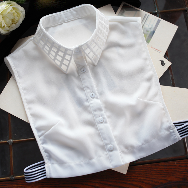 Women Shirt Sweater Fake Collar Organza Chiffon Blouse Clothes Accessories Geometric Detachable False Collar