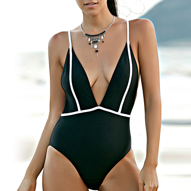 2018 new one piece bathing suit swimwear push up new ladies swimsuit Halter Top swiming suits sexy bikini women D028