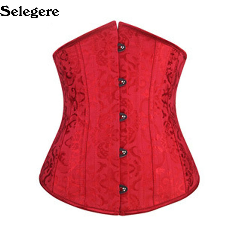 Dobby waist   corsets   and   bustiers   black underbust   corset   steel cincher   bustiers   for women 24 steel boned short corselet