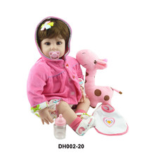 New cheap 20″ Adora Lifelike Toddler Baby Alive Boneca Girl Kid Doll Bebe Reborn Menina de Silicone Toys For Children Gifts