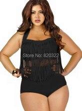 11 Solid colors High Waist Bikini Set Tassel Sexy Push Up women High waist Swimsuit Brazilian