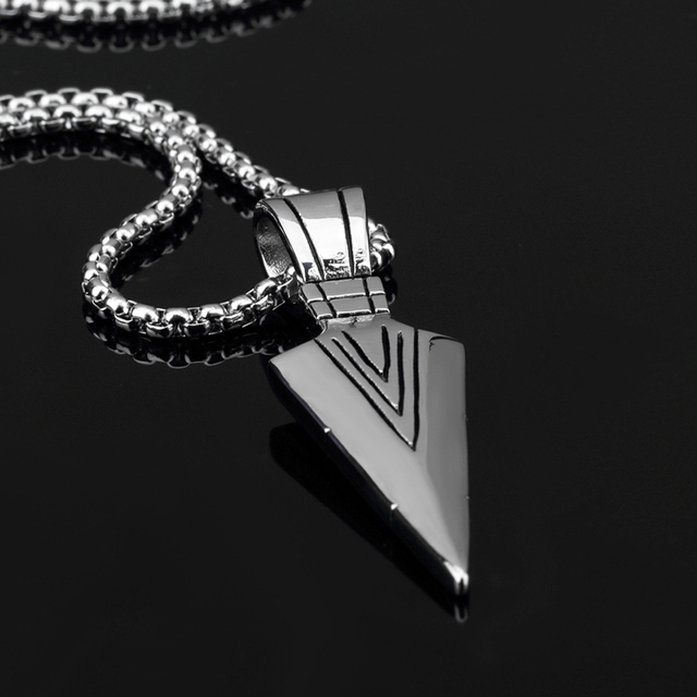 Colar Masculino Arrow Pendants Necklaces Gold Plated Stainless Steel Necklace Men Jewelry Vintage Accessories Jewellery Collier