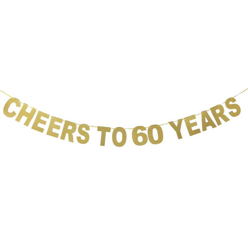 Flag Decoration For 10-90 Years Birthday Wedding Anniversary Celebration Party