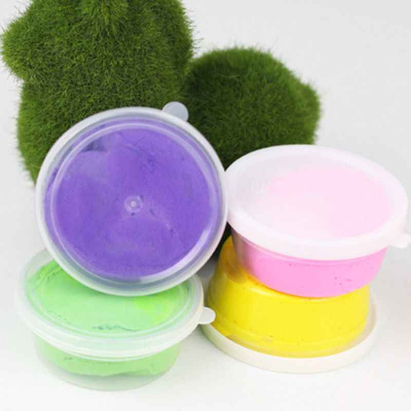 Slime Storage Container Foam Ball Storage Box Case Jars Pots With Lids For Plasticine Soft Clay