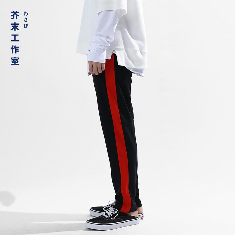 SODA WATER 2018 New Men sportswear Pants Casual Elastic Vintage Mens Track Pants skinny Sweatpants Trousers 345W17