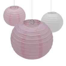 5Pcs 10-15-20-25-30cm Decorative Paper Ball Lanterns Chinese Lantern Hanging Lampion for Wedding Party Festival Decoration