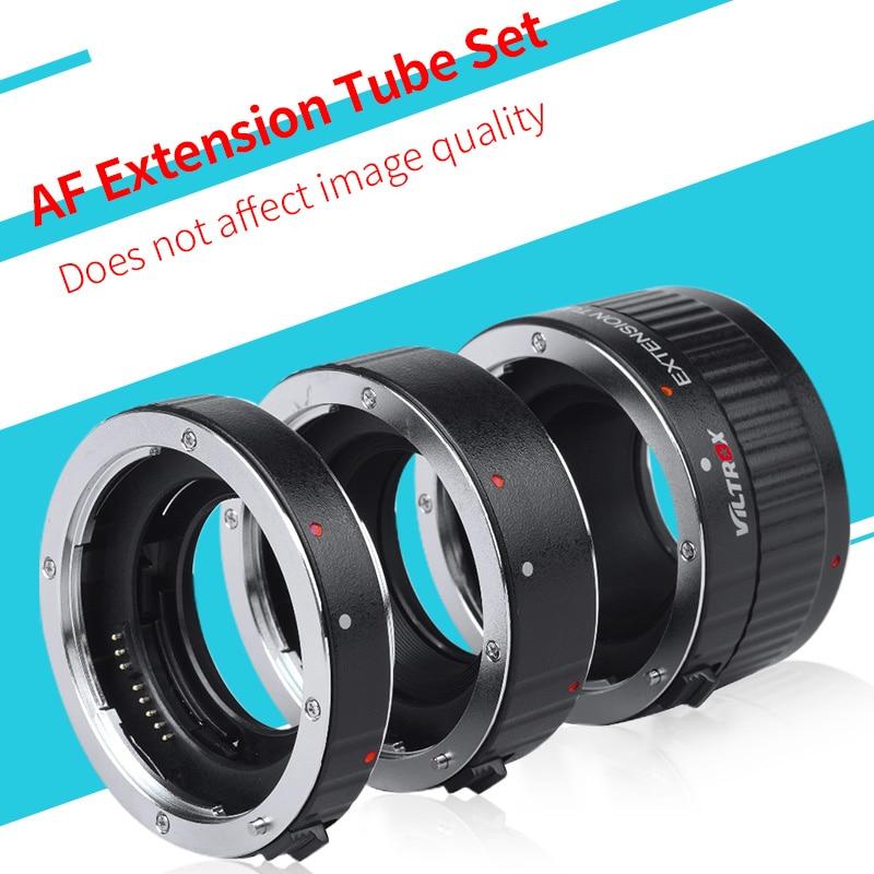 """VILTROX"" metalinis laikiklis ""Auto Focus AF"" ""Macro"" adapteris kanonui EOS 760D 80D 7D 5D4 5DSR kamera su 12MM + 20MM + 36MM ilgintuvu"
