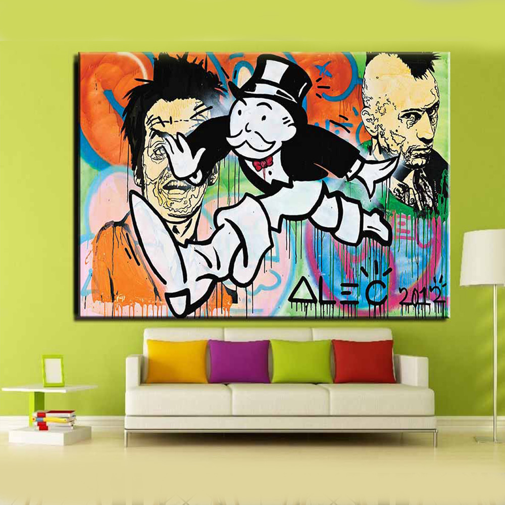 compare prices on colorful pop art online shopping buy low price alec monopoly color painting canvas print pop art giclee poster print on canvas for wall decoration