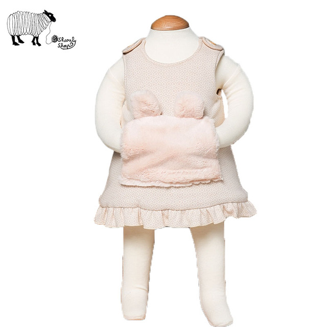 Newborn Baby Girl Cotton Sleeveless Cute Rabbit Dresses Infant Girls European Style Baby Dress clothes vestido,baby jurk,