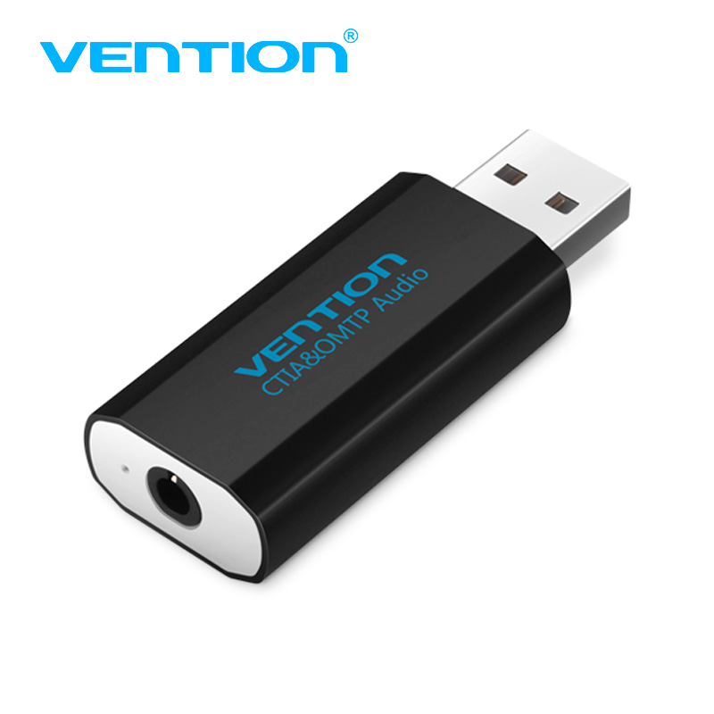 Vention External Sound Card USB to 3.5mm Earphone Headphone Jack 3.5 mm USB Adapter Audio Card for Laptop Computer Sound Card