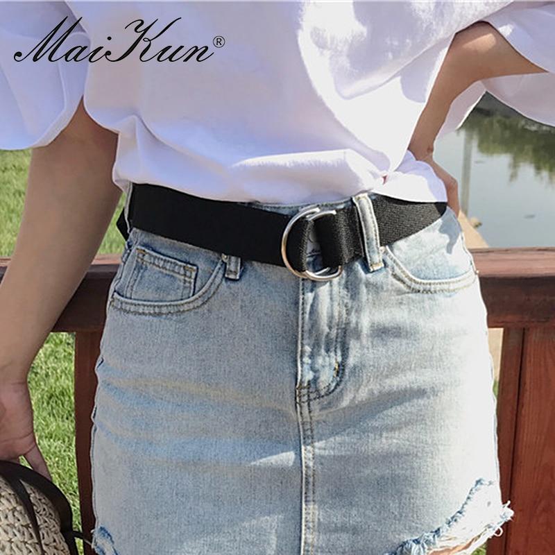 MaiKun Cinturones de lona para mujer Cinturón de hombre con hebilla - Accesorios para la ropa - foto 2