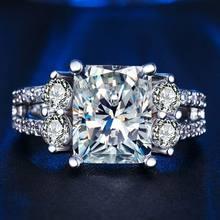 Beiver белого золота цвет кольцо с AAAA фианит тонкие Винтажные Ювелирные изделия Кольца для женщин обручальное кольцо кубический цирконий rins