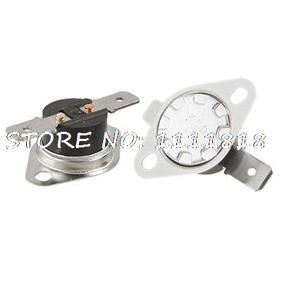 KSD Series Normal Open 45 Celsius Temperature Control Thermostat 250V 10A 2pcs 5 x 75c manual reset thermostat normal closed temperature switch 250v 10a