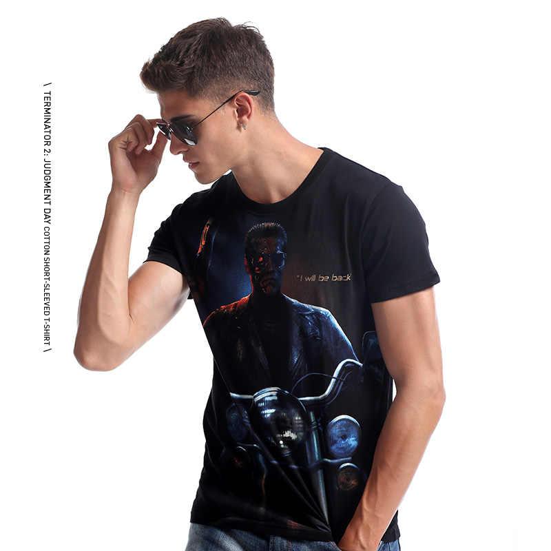 Formato M-3XL TEE7 Uomini 3d t shirt Terminator Il Giorno del Giudizio di Sesso Maschile di Cotone Camicetta di Modo di Stampa Slim Fit Hip Hop Tee shirt Homme Regalo