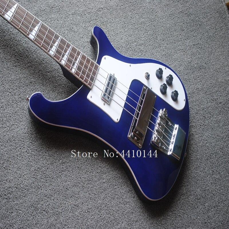 Guitare basse OEM Rickenback 4003 bleu nuit ricken basse guitare électrique avec 4 cordes