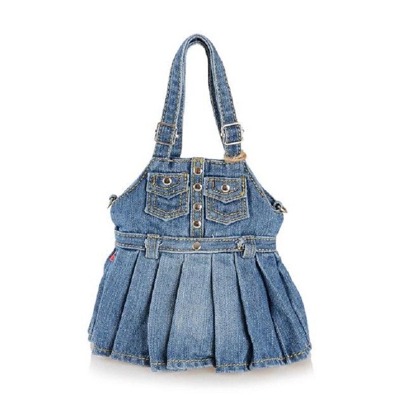 Moda de época Lindo Denim Jeans Bolsos de Hombro Bolsos de Las - Bolsos