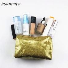PURDORED 1 pc 3 Colors Laser Makeup Bag Women Cosmetic Bag For Makeup Travel Bag Organizer kosmetyczka Dropshipping