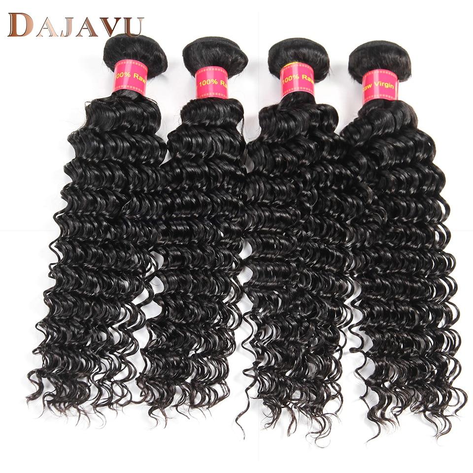 Dejavu Malaysia Deep Wave Human Hair 4 Bundles Malaysia Hair Weave Bundles Natural Color ...