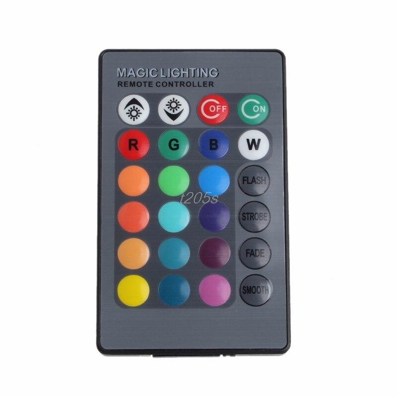 1 шт. удаленного Управление Беспроводной 85-265 В E27 светодиодный 20 Вт 16 Цвета RGB настольная лампа лампочка q01 челнока