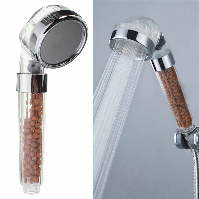 Handheld Water Saving Shower Head Bath Shower Nozzle Sprinkler Sprayer Filter Transparent Hand Shower Head Showerhead