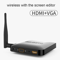 2.4G +5G with screen device for wireless HDMI +VGA screen push treasure airplay video for projection TV transmitter ios android