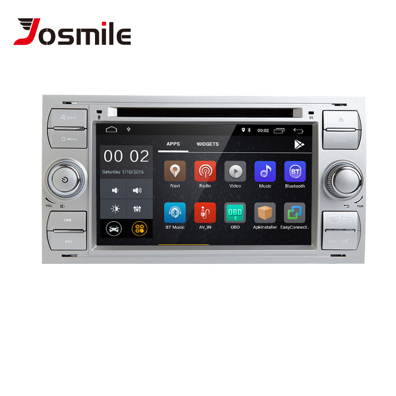 2 din Android 8.1 Car DVD Player For <font><b>Ford</b></font> Fiesta <font><b>Ford</b></font> <font><b>Focus</b></font> 2 Mondeo 4 C-Max S-Max FusionTransit Multimedia Radio GPS <font><b>Navigation</b></font> image
