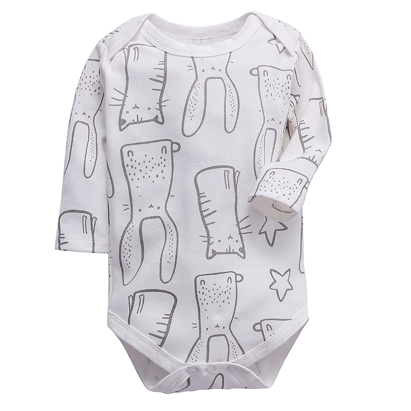 Newborn Baby Girls Clothing Infant Bodysuit Long Sleeve 100% Cotton 3 6 9 12 18 24 Months Babies Boys Clothes