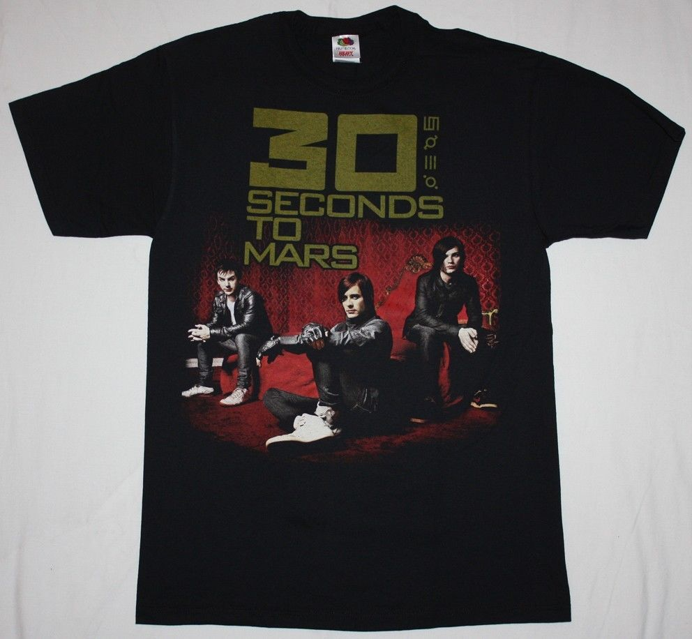 Fashion 2018 Summer 30 SECONDS TO MARS JARED LETO ALTERNATIVE ROCK EMO NEW BLACK T-SHIRT Hip-Hop Casual Clothing ...
