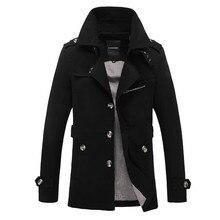 Brand 2019 Male Overcoat Long Jacket Coat Men Men's