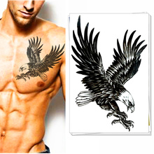 Airforce Top Gun Eagle Temporary Tattoos Body Art Flash Tatoos Stickers Stickers 12x20cm Army Sexy Swimsuit Dress Makeup