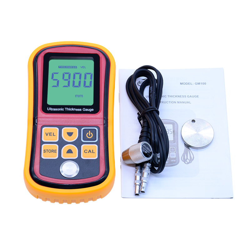 Benetech Ultrasonic thickness gauge GM100 1.2-225mm(Steel) Digital LCD Ultrasonic Thickness Meter Tester Gauge 0.1mm Resolution as840 ultrasonic thickness gauge 1 2 225mm 1000 9999m s smart sensor portable thickness meter tester