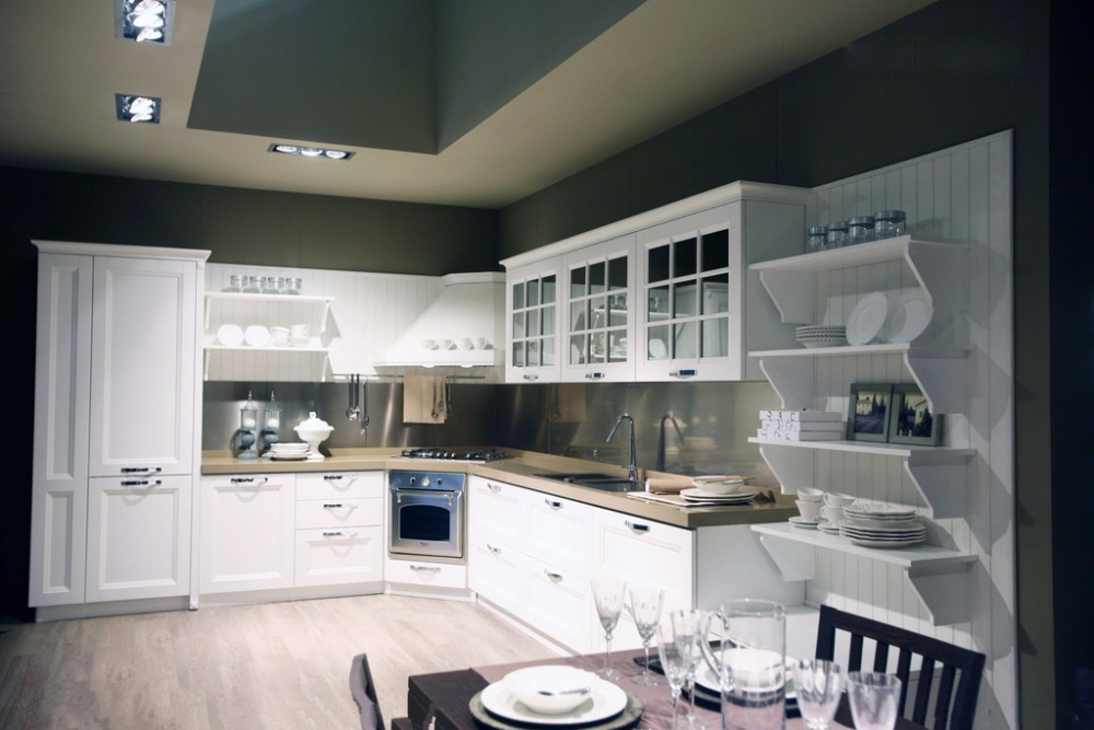 L shape kitchen design modern on alibaba for Contemporary l shaped kitchen designs