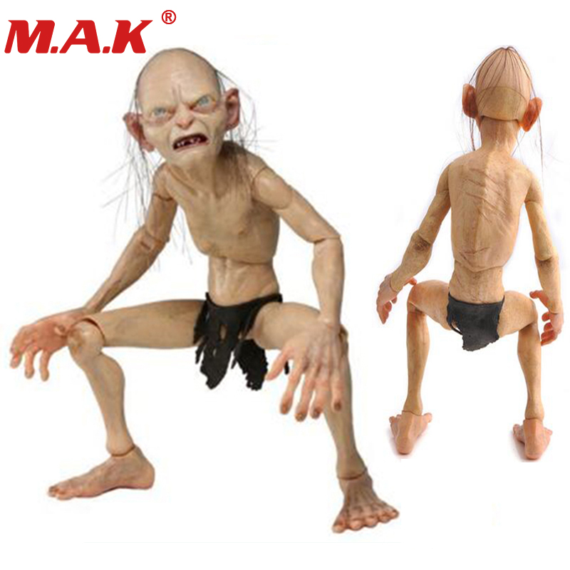 все цены на 1/4 scale action figure model toys Lord of the rings Gollum Smeagol movable dolls hobbit toys & dolls for boys gift spoof funny