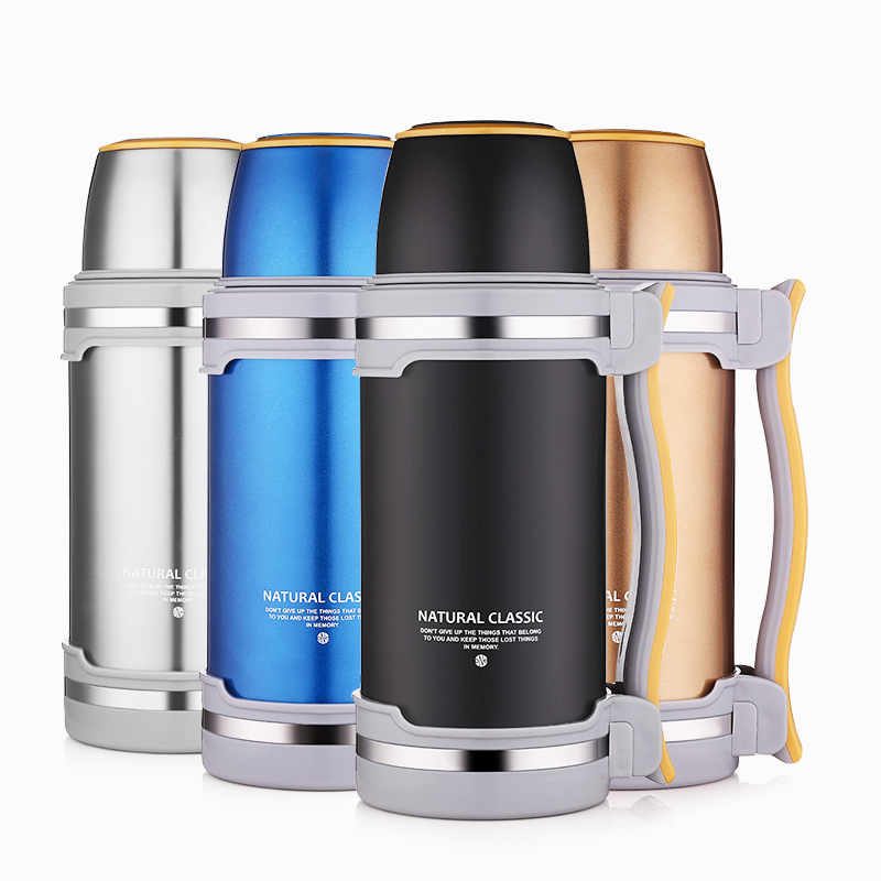 2000ml Thermos Bottle Flask with Mug Kettle Double Walled Stainless Steel Vacuum Insulated Large Capacity Bottle