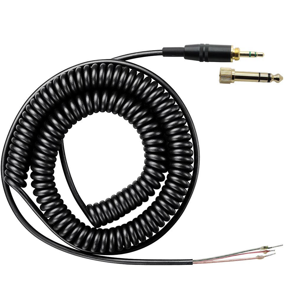 poyatu replacement cord cable for sony mdr 7506 7509 v6 v600 v700 v900 mdr 7506 headphones spring spiral coiled repair dj cable [ 1000 x 1000 Pixel ]