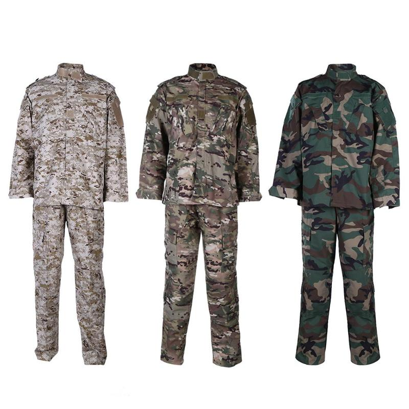 Army ACU FG Combat Camouflage Uniform Shirt + Pants Camo Airsoft Paintball Men Clothing Suit Hunting Clothes tactical g3 uniform hunting combat shirt cargo with pants knee pads camouflage bdu army military men clothing set acu fg black