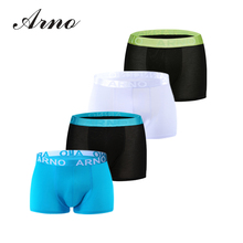 ARNO Men 4pcs Fashion Boxer Comfortable Underwear Breathable Soft panties