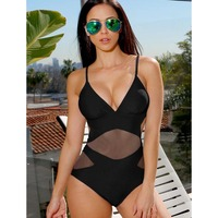 Trikini 2017 Sexy Monokini Mesh Swimwear Women High Waist Swimsuit Femle Mesh Bathing Suit Triquini Brazilian