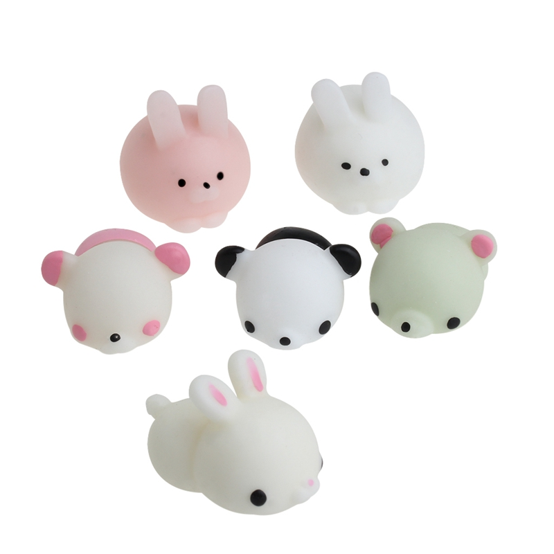 Cute Animal Squeeze Healing Toy Kawaii Collection Stress Reliever Soft Silicone W30