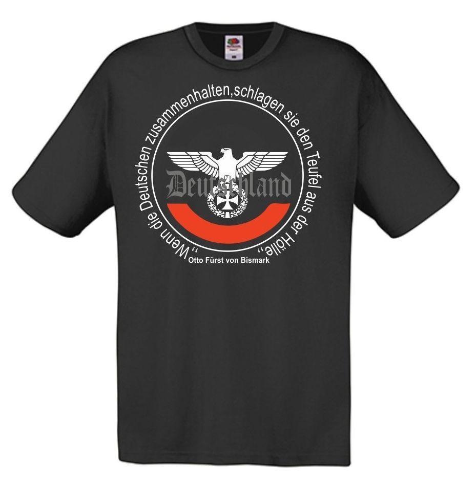2018 Summer Hot Sale Men   T  -  shirt   Furst von Bismarck,Deutschland,Reichsadler,Hooligans,Deutsches Reich,Wehrmacht