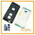 Nova marca para htc one dual sim 802 t 802d 802 w m7 quadro habitação oriente tampa no telefone móvel + ferramenta de substituição