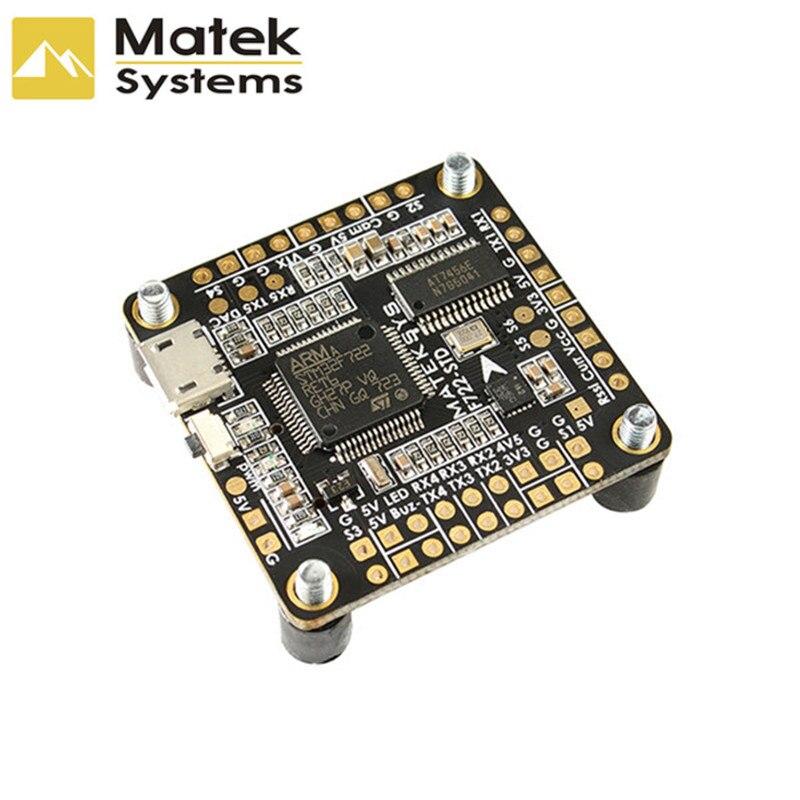 Matek Systems F722-STD STM32F722 Flight Controller Built-in OSD BMP280 Barometer Blackbox for RC Models Multicopter Spare Part f722 f7 v1 upgrade version f4 flight control with osd barometer