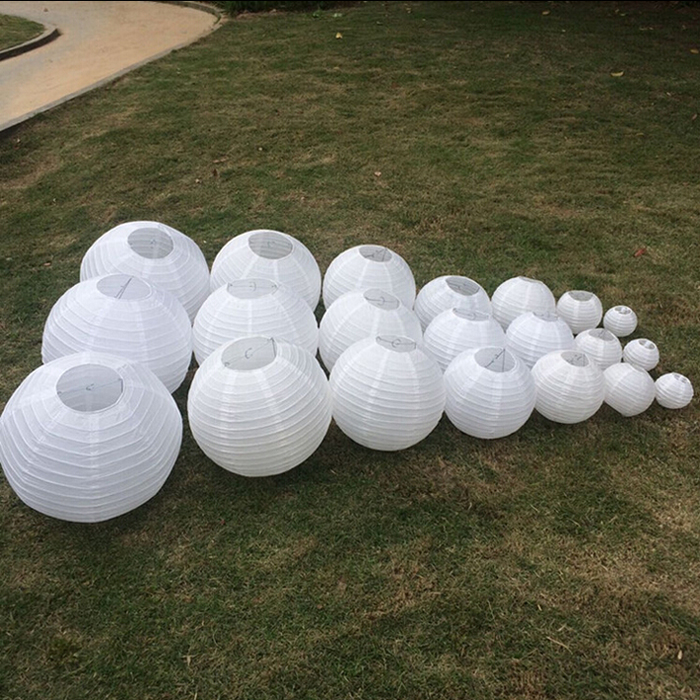 10pcs Lot 14 Inch 35cm White Anese Paper Lampion Lantern For Wedding Party Birthday Outdoor Event Decoration In Lanterns From Home Garden On