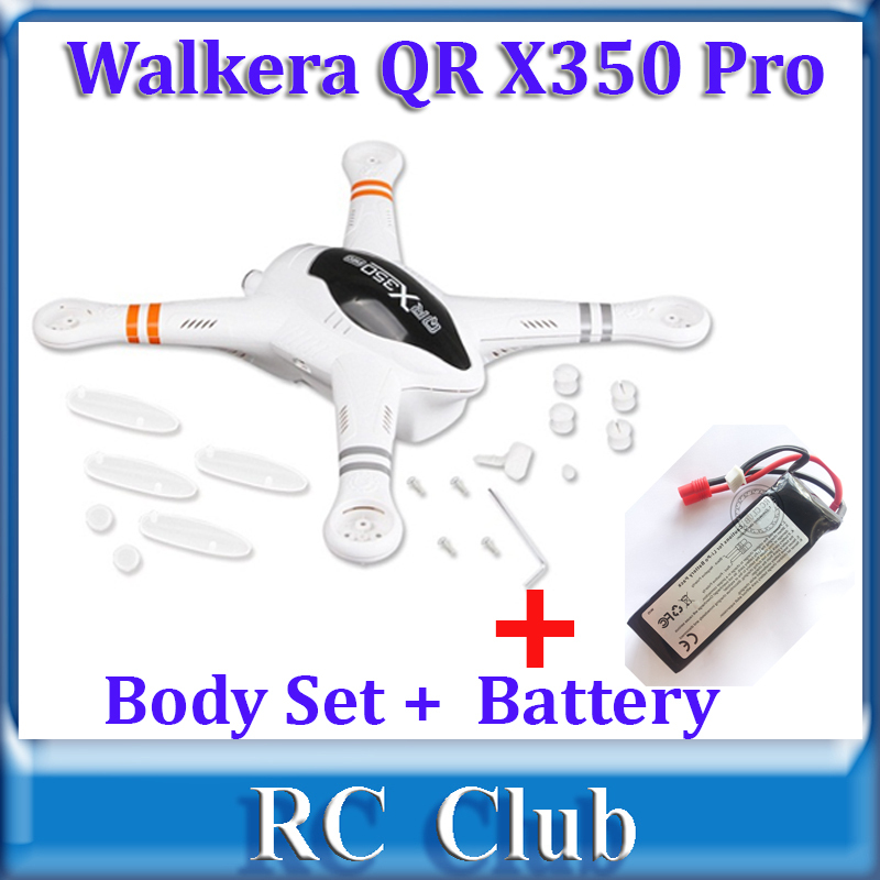 Walkera QR X350 PRO Body Set +  Original Battery Set for Walkera QR X350 Pro Spare Parts  QR X350 PRO-Z-02 Body Shell walkera qr x350 pro battery 11 1v 5200mah lipo battery qr x350 pro z 14 walkera qr x350 pro parts shipping by plane