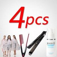 Hair Iron Cheap Salon Cloth 120ml Mini Brazilian Hair Keratin Treatment Straightening Hair Comb Hair Product
