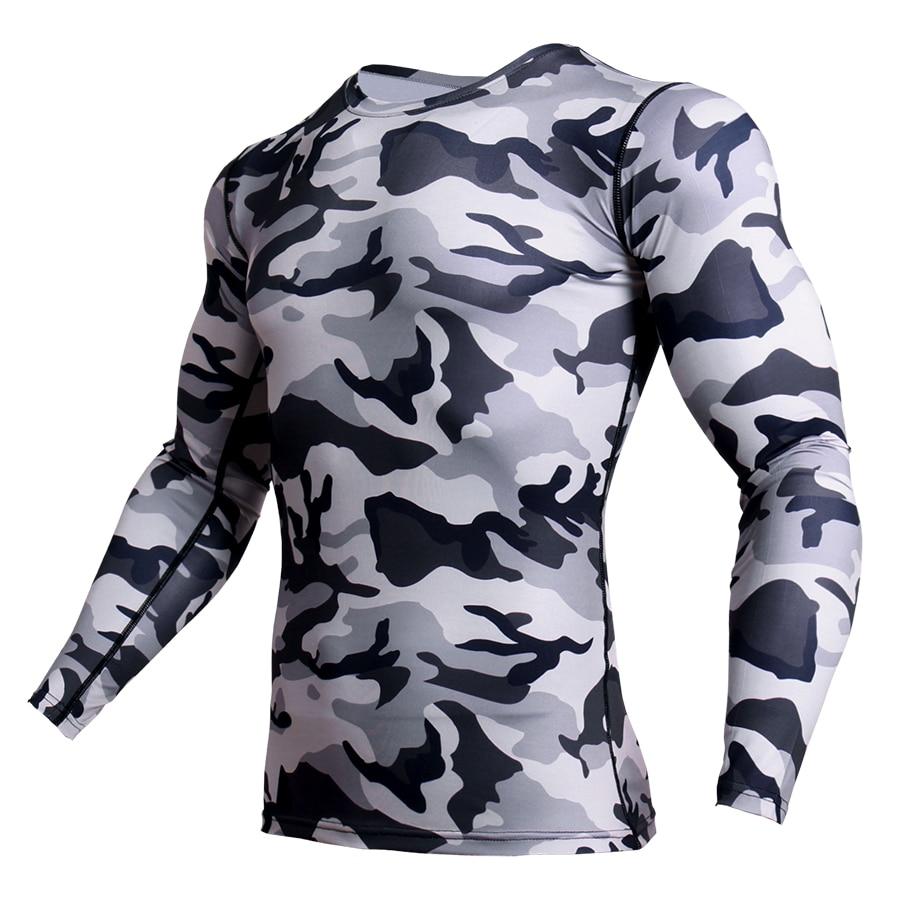 Rashguard Compression Shirt Men Fitness MMA T Shirt Fitness  Camouflage Tshirt Workout Sportswear Long Sleeve GymsT Shirt Men