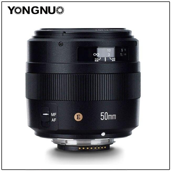 Yongnuo yn50mm F 1.4 N objectif principal Standard à grande ouverture mise au point automatique Len pour nikon D810 D5 D4 D750 D7200 D5600 D3400 objectif de l'appareil photo