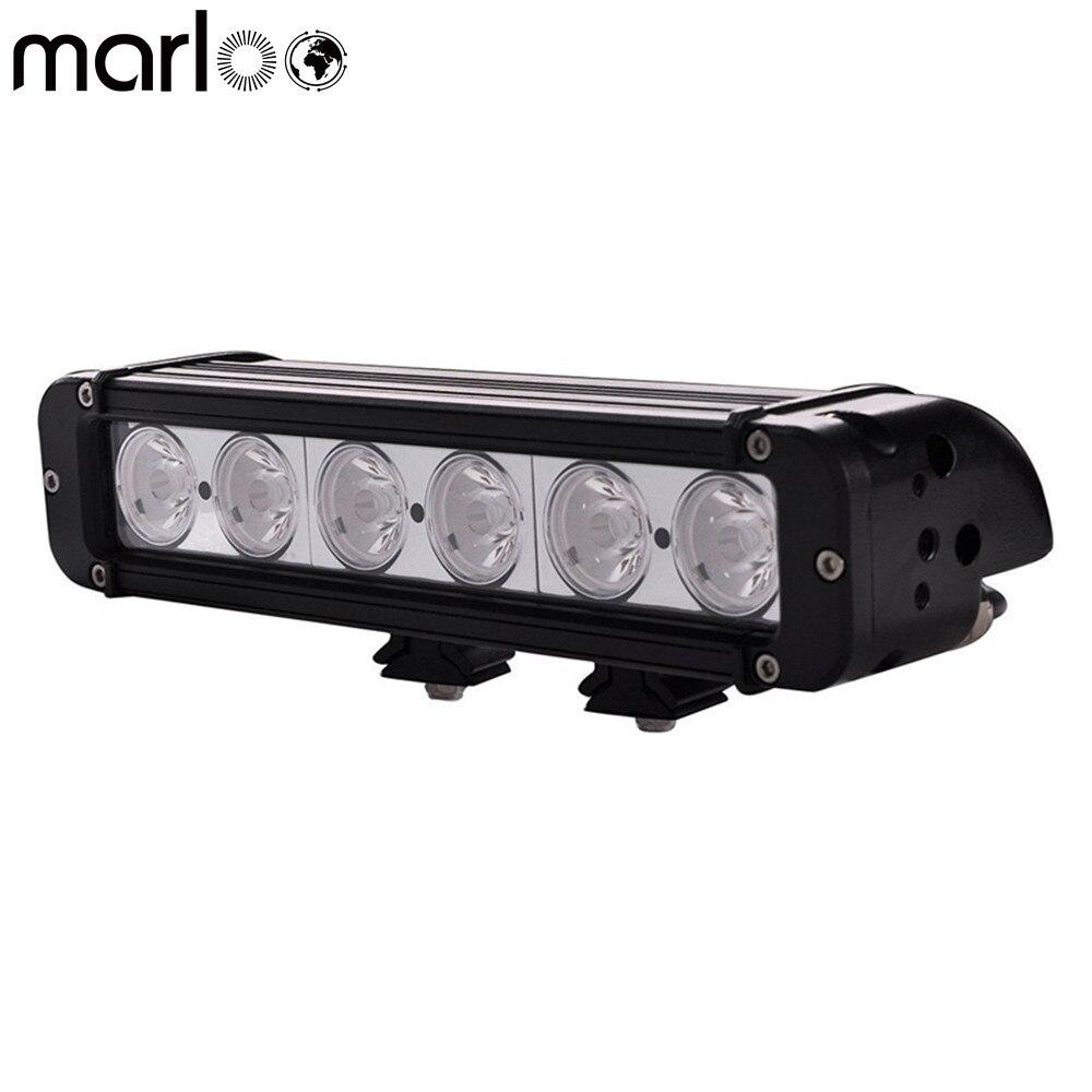 7 Inch 60W 4D Lens Super Slim Mini LED Light Bar 6000Lm For Car//Fire Engine