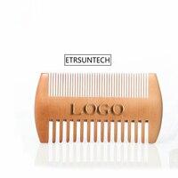 100 шт тонкий и грубой зуб двусторонний деревянный расчески флэш накопитель в деревянном корпусе с логотипом на заказ расческа для волос с дв
